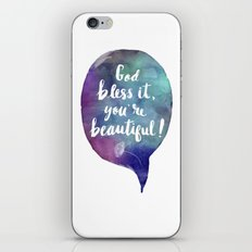 God bless it, you're beautiful! (Valentine Love Note) iPhone & iPod Skin