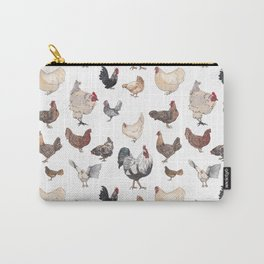 Chicken Happy (white) Carry-All Pouch