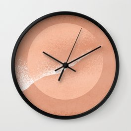 Minimalistic terracotta grainy painted Wall Clock