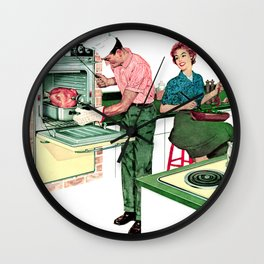 Retro and Vintage Thanksgiving Wall Clock