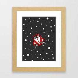 Santas Sleigh Is In The Shop Framed Art Print