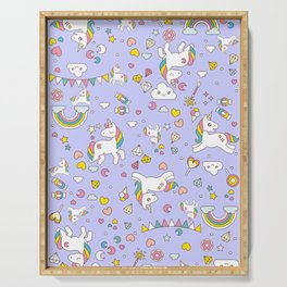 Unicorn Lilac Pattern Serving Tray