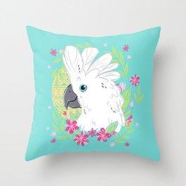 Umbrella Cockatoo Throw Pillow