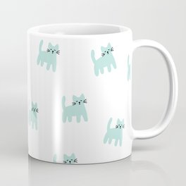 Cute mint hand drawn mouse pattern Coffee Mug
