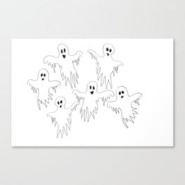 Ghost Monster Halloween Canvas Print