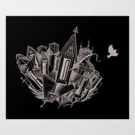Tesseract Art Print