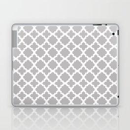 Lattice Gray on White Laptop & iPad Skin