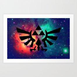 The Legend of Zelda Triforce Multicolored Stars Art Print