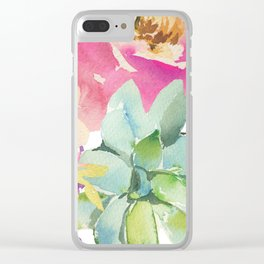 Summer Dreamin' Clear iPhone Case