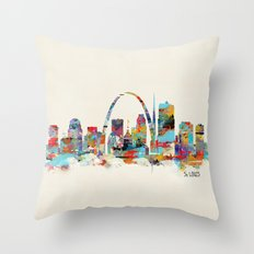 saint louis missouri skyline Throw Pillow