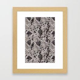 Black and Gray Snake Skin Framed Art Print