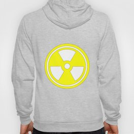 Caution Radioactive Sign In Yellow Hoody