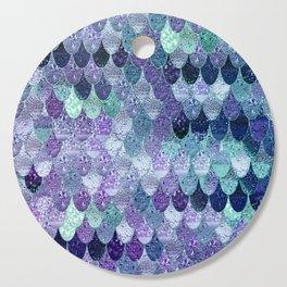 SUMMER MERMAID  Purple & Mint by Monika Strigel Cutting Board
