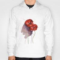 poppies Hoodies featuring Poppies by Alina Rubanenko