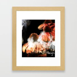 """""""Stalactites and Coneflowers"""" Framed Art Print"""