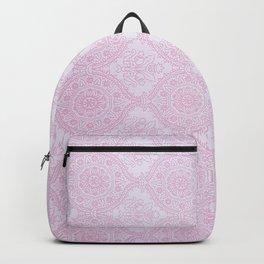 Blush pink lavender vintage elegant floral mandala Backpack