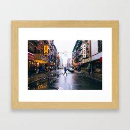 Chinatown Crossing Framed Art Print