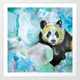 Panda Thoughts Art Print
