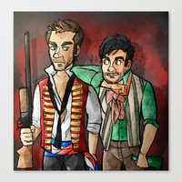 grantaire Canvas Prints featuring reverse25th!Enjolras and Grantaire by Fra França