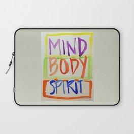 MIND, BODY, SPIRIT  Laptop Sleeve