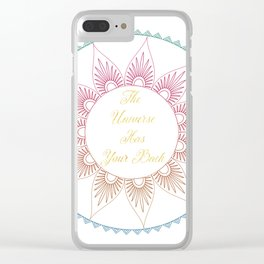 The Universe Has Your Back Deco Petals Clear iPhone Case