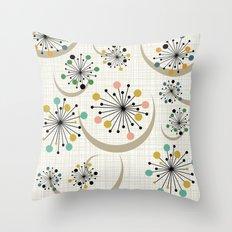 Mid Century Modern Starbursts 1a Throw Pillow