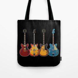 Four Electric Guitars Tote Bag