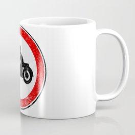 Motorcycle Round Traffic Sign Grunge Coffee Mug