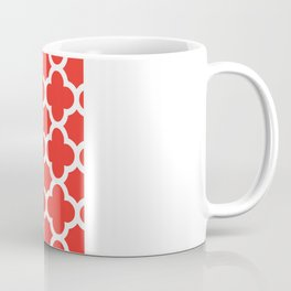 Poppy Quatrefoil Coffee Mug