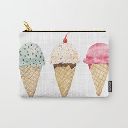 Sweet Ice Cream Cones Carry-All Pouch