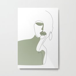 Looking Green Metal Print