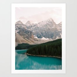 Turquoise waters of Moraine Lake in Banff National Park Art Print