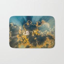 Sun Coming Through the Clouds Bath Mat