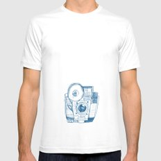 Camera Sketch 5 Mens Fitted Tee MEDIUM White
