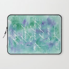 Life is Tough in Teal Laptop Sleeve
