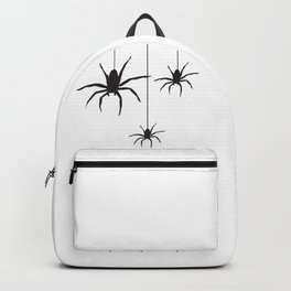 Silhouette of spiders hanging on web Backpack