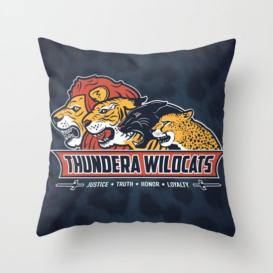 Thundera Wildcats Throw Pillow