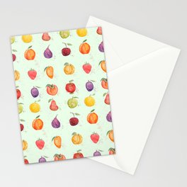 fruit collection watercolor Stationery Cards
