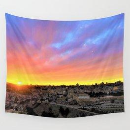 Jerusalem Sunset Wall Tapestry