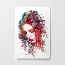 Sad Woman Metal Print