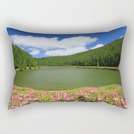 Lake in Azores Rectangular Pillow