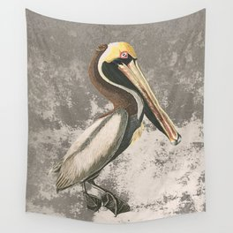 If anyone can, pelican Wall Tapestry