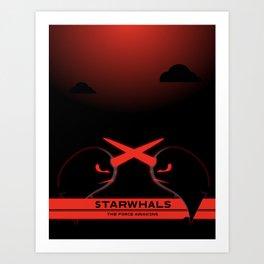 StarWars - Starwhals - The Force Awakens Art Print
