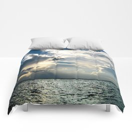 Coconut Grove Sailing Day Comforters