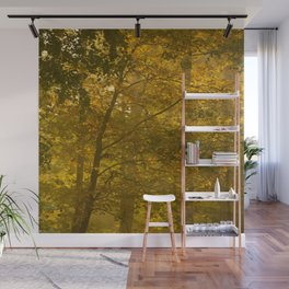 Forest in Fall Color Autumn Scene #decor #society6 #buyart Wall Mural