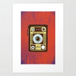 Brown Vintage Camera Art Print