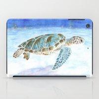 sea turtle iPad Cases featuring Sea turtle by Savousepate