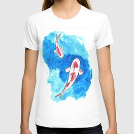 Koi Fish in Blue Waters T-shirt