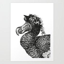 Mrs Dodo   Black & White Art Print
