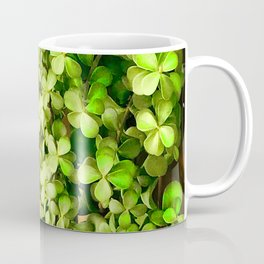 Green Leaves By Stucco Wall Coffee Mug